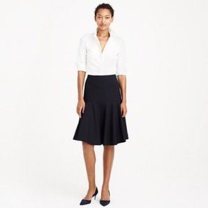 J.Crew Petite flare skirt in Super 120s wool